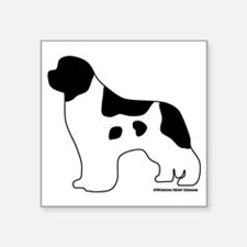 "Landseer_logo Square Sticker 3"" x 3"""