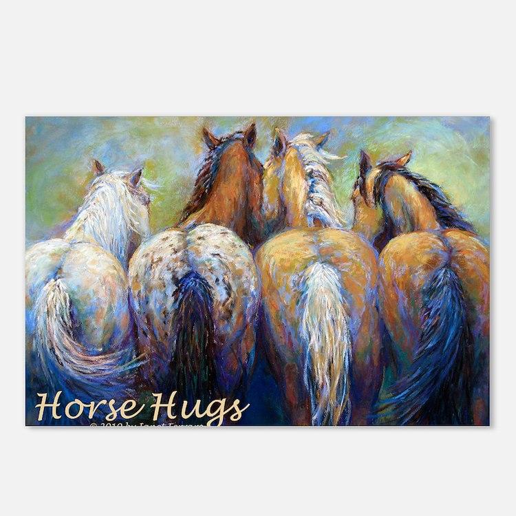 Horse Hugs 2013 Calendar Postcards (Package of 8)