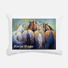 Horse Hugs 2013 Calendar Rectangular Canvas Pillow