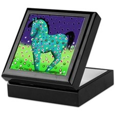 Teal Horse Notecards Keepsake Box