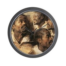 Four Studies of the Head of a Negro Wall Clock
