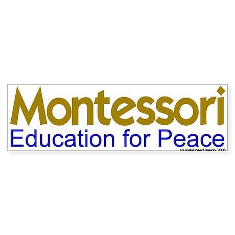 Education for Peace Bumper Sticker