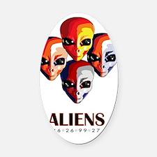 Aliens _blnkt Oval Car Magnet