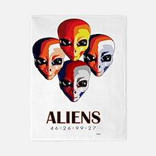 Aliens _blnkt Twin Duvet