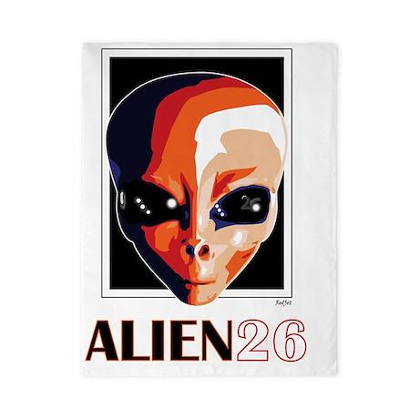 Alien26_blnkt Twin Duvet