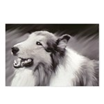B&W laughing Collie Postcards (Package of 8)