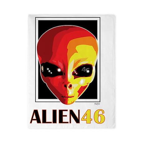 Alien46_blnkt Twin Duvet