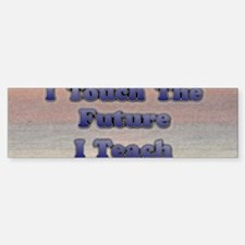 I_TEACH_3x7 Car Car Sticker