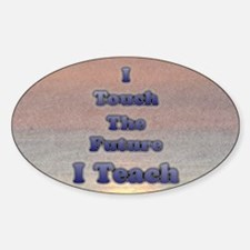 I_TEACH_5x7 Sticker (Oval)