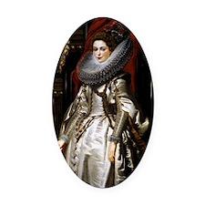 Portrait of Marchesa Brigida Spino Oval Car Magnet