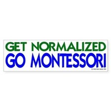 get normalized (g/bl) Bumper Car Sticker