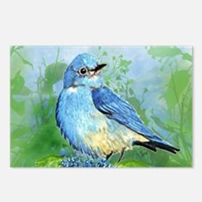 Watercolor Mountain Bluebird Bird nature Art Postc