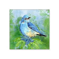 Watercolor Mountain Bluebird Bird nature Art Stick