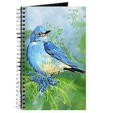 Watercolor Mountain Bluebird Bird nature Art Journ