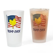 trump chick Drinking Glass