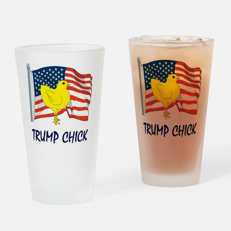trump chick Drinking Glass