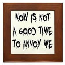 annoy-me2 Framed Tile
