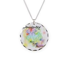 morethanautism2-DAUGHTER Necklace Circle Charm