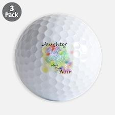 morethanautism2-DAUGHTER Golf Ball
