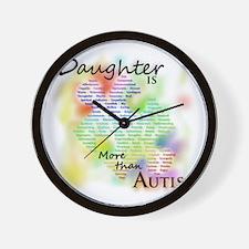 morethanautism2-DAUGHTER Wall Clock