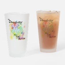morethanautism2-DAUGHTER Drinking Glass
