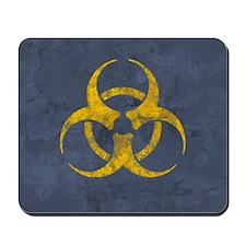 distressedBiohazardYGR Mousepad