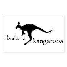 I Brake for Kangaroos Rectangle Stickers