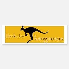 I Brake for Kangaroos Bumper Stickers