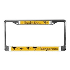 I Brake for Kangaroos License Plate Frame