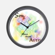 morethanautism2-SON Wall Clock
