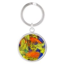 Pask001-Square Round Keychain