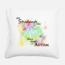 morethanautism2-students Square Canvas Pillow