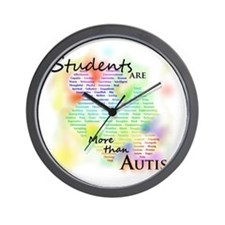 morethanautism2-students Wall Clock