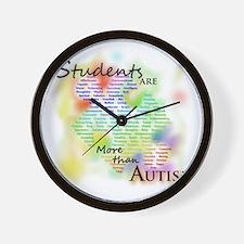 morethanautism2-students Wall Clock