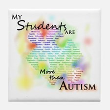 morethanautism2-students Tile Coaster
