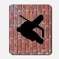 Brick Wall Hockey Goalie Mousepad