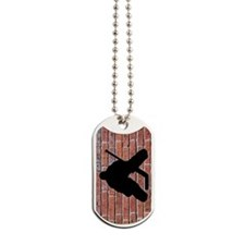 Brick Wall Hockey Goalie Dog Tags