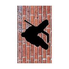 Brick Wall Hockey Goalie Decal