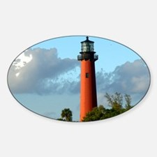 Jupiter Lighthouse Paint Effect Sticker (Oval)