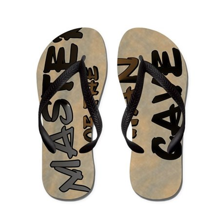 Master Of The Man Cave Flip Flops