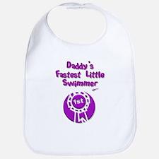 Daddy's Fastest Little Swimme Bib