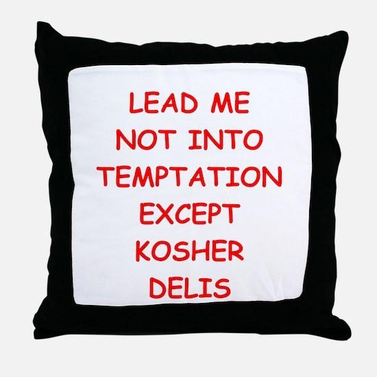 kosher deli Throw Pillow