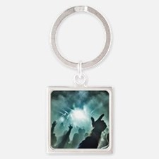 Pointtothesky large Square Keychain