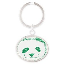 pandagreen Oval Keychain