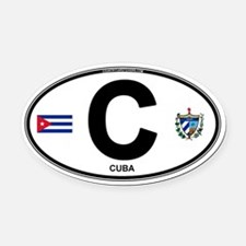 c-oval Oval Car Magnet