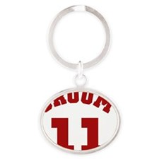 groom11red Oval Keychain
