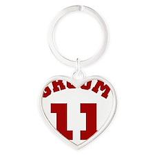 groom11red Heart Keychain