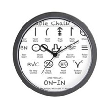 Portable Chalk Talk Wall Clock
