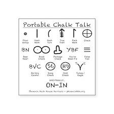 """Portable Chalk Talk Square Sticker 3"""" x 3"""""""