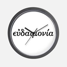 Eudaimonia Wall Clock